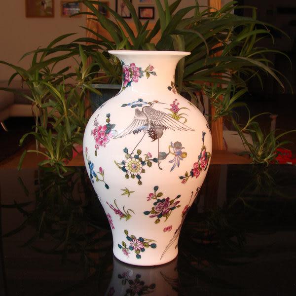 景德鎮陶瓷器 琺琅彩花瓶 花插 夜光瓷 裝飾擺件