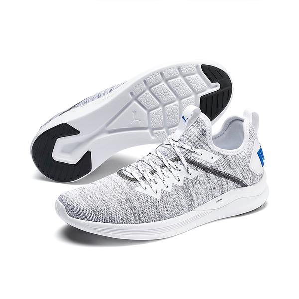 PUMA IGNITE FLASH EVOKNIT 男款灰白色襪套運動慢跑鞋-19050828