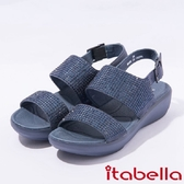 ★2017春夏新品★itabella.一字水鑽厚底涼鞋(7315-55藍)