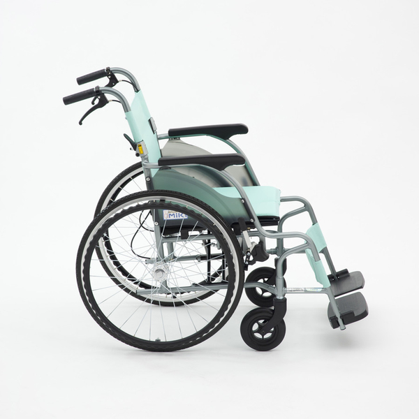 大輪輪椅 均佳 日本MIKI  9.8公斤 輕量型 鋁合金輪椅 機械式輪椅 CRT-1(綠/粉)