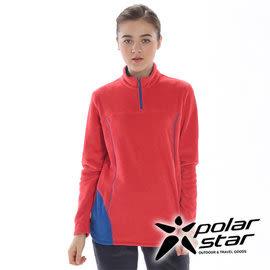 PolarStar 女 高領拉鍊保暖衣 │ 台灣製造『橘粉紅』 P15218