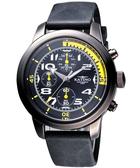 KATINO 飛行者大錶面計時腕錶(K5879DBSiY)-黃