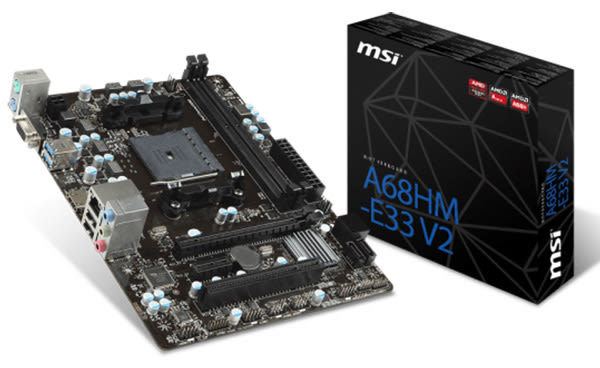 【台中平價鋪】 全新 MSI 微星 A68HM-E33 V2 主機板 主機板 三年保固