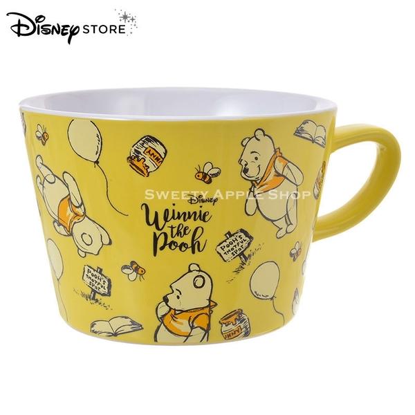 日本 DISNEY STORE 迪士尼商店限定 小熊維尼  素描版 馬克杯