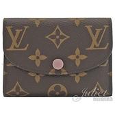 Louis Vuitton LV M62361 Rosalie 新版經典花紋信用卡零錢包.芭蕾粉 全新 現貨【茱麗葉精品】