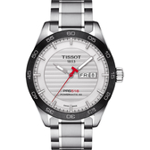 TISSOT天梭 PRS516 賽車動力儲存80機械錶-銀x黑圈/42mm T1004301103100
