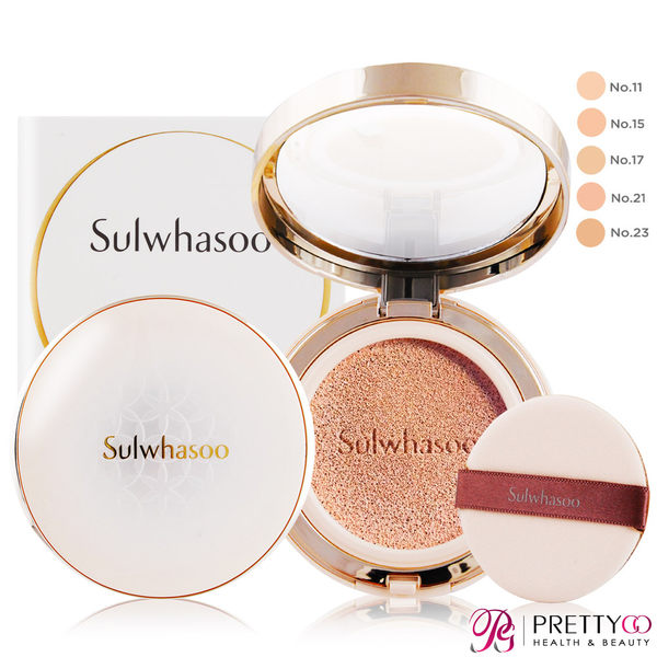 Sulwhasoo 雪花秀 完美瓷肌氣墊粉霜SPF50+ PA+++(15gX2)-多色可選-百貨公司貨【美麗購】