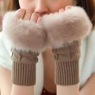 男女手套 女冬天學生可愛女士露指韓版冬季加厚保暖騎車手臂套毛線半指【快速出貨八折鉅惠】