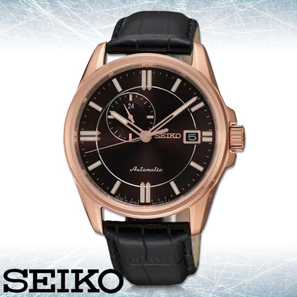 SEIKO 精工手錶專賣店 SSA134J1 男錶 機械錶 皮革錶帶 黑色錶盤 藍寶石水晶玻璃 防水