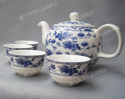 【只有茶壺】景德鎮 青花瓷 釉中彩  陶瓷
