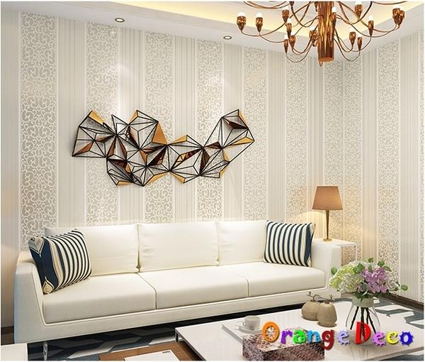 壁貼【橘果設計】簡約直條系列(米白)10米長DIY組合壁貼 牆貼 壁貼 室內設計 裝潢