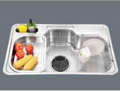 【歐雅系統家具】 赫里翁-國產手工水槽 JT-SS870(15R圓角) 特價 18000