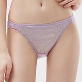 思薇爾-紫戀心系列M-XL蕾絲低腰三角內褲(迷霧紫)