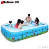 兒童充氣游泳池加厚家用超大號成人家庭洗澡池小孩嬰兒寶寶戲水池 QQ28482『bad boy』