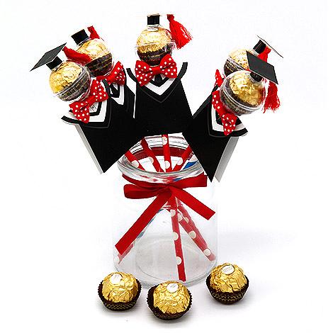畢業送禮物 學士帽畢業生金莎巧克力糖果棒