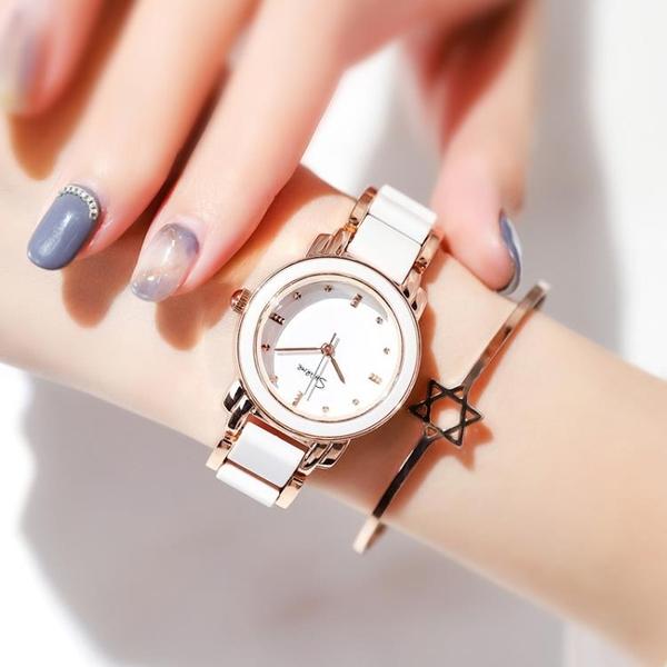 手表女學生韓版簡約時尚潮流ulzzang小巧大氣休閒時裝手鏈式女表 怦然新品