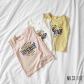 【新年鉅惠】寶寶純棉無袖背心 男女兒童字母無袖T恤