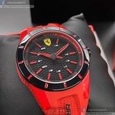 星晴錶業-FERRARI法拉利男女通用錶,編號FE00018,38mm黑錶殼,紅色錶帶款