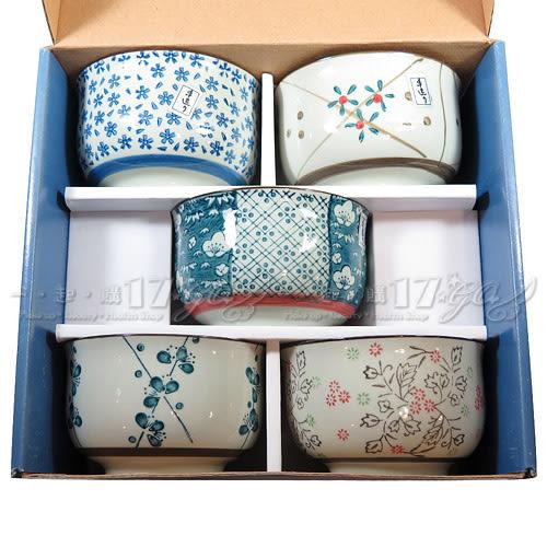 ☆17go☆ 松村窯 日式和風手造反口碗5入禮盒組
