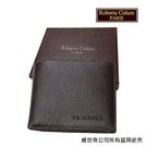 【Roberta Colum】諾貝達 男用皮夾 短夾 專櫃皮夾 進口軟牛皮短夾(咖啡色-24003)【威奇包仔通】