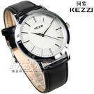 KEZZI珂紫 風格鑽錶 鑽時刻 黑色 皮帶女錶 皮革錶帶 女錶 KE1308黑小
