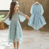 洋裝女童連身裙兒童夏季女孩公主裙 E家人