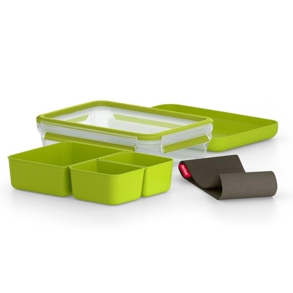 法國特福Tefal MasterSeal 樂活系列無縫膠圈PP密封保鮮午餐盒 1.2L