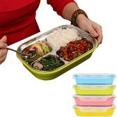 PUSH! 餐具用品304不銹鋼保溫飯盒便當盒防燙餐盤盒(小孩款)一入E75