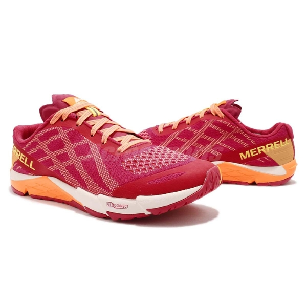 Merrell 戶外鞋 Bare Access Flex E-Mesh 桃紅 橘 輕量越野 運動鞋 女鞋 【PUMP306】 ML12612