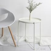 小桌子 現代簡約創意圓形床頭小桌子臥室 時尚芭莎WD