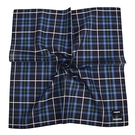 renoma拼色格紋男士純綿帕巾(深藍色)989063-248