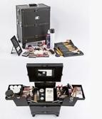化妝箱專業萬向輪拉桿化妝箱大容量美容美甲箱紋繡箱收納箱