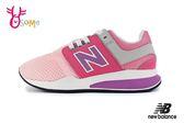 New Balance 247 女童運動鞋 中童 鬆緊帶 慢跑鞋 O8427#粉紅◆OSOME奧森童鞋