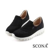 SCONA 蘇格南 輕量舒適側拉休閒鞋 黑色 7293-1
