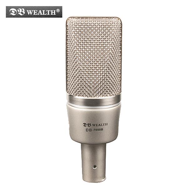 ★集樂城樂器★WEALTH DB-7000B 大膜片心型指向性錄音麥克風