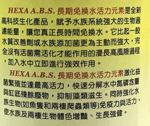 【西高地水族坊】HEXA 長期免換水活力元素100g