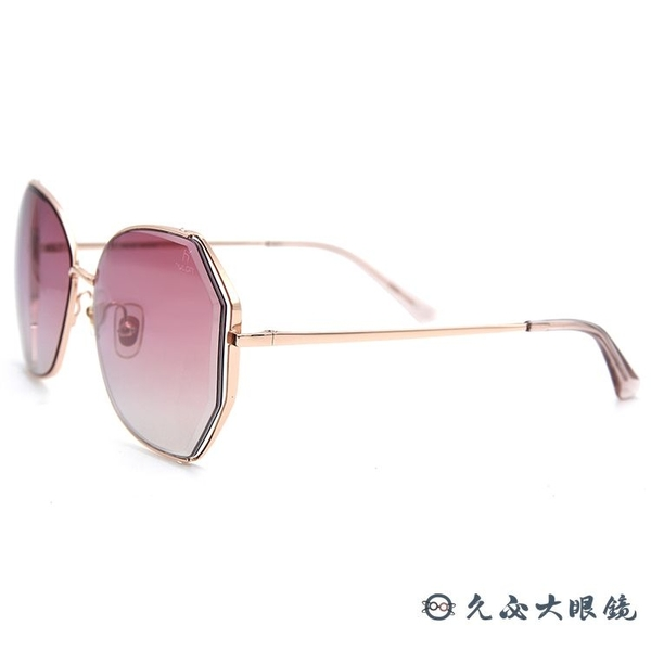 HELEN KELLER 林志玲設計款 H8826 (玫瑰金) 光芒系列 太陽眼鏡 久必大眼鏡