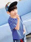男童短袖t恤夏裝新款 兒童半袖夏季中大童體恤上衣韓版潮童裝   9號潮人館