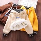 兒童冬季新款韓版潮流百搭保暖連帽衛衣男女童假兩件上衣 童趣屋