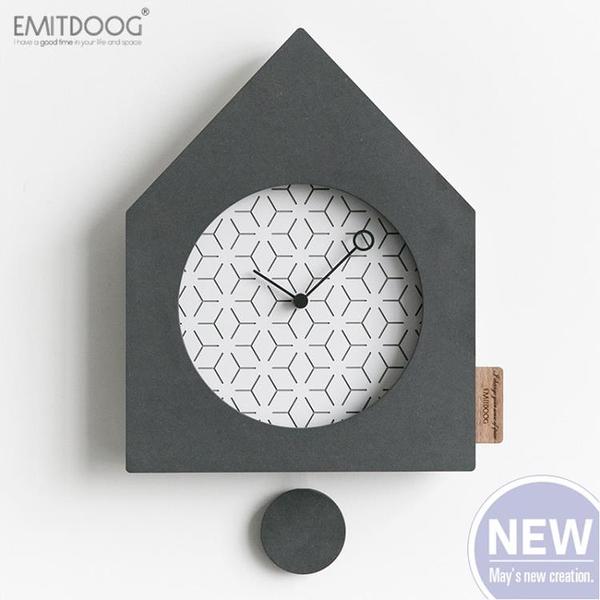 北歐簡約搖擺掛鐘客廳個性擺鐘時尚鐘表創意臥室靜音壁掛