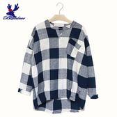 American Bluedeer-大格紋落肩衣