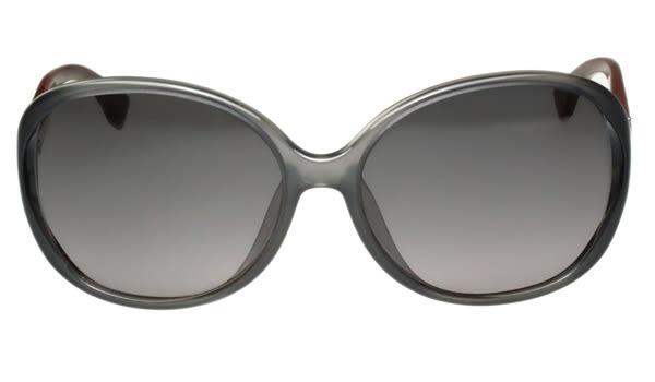 FENDI -時尚太陽眼鏡 (透明灰+棗紅色)