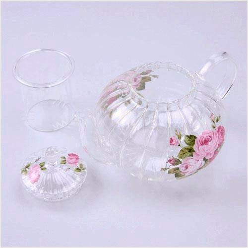 日本【紀念玫瑰 Anniversary Rose】耐熱茶壺