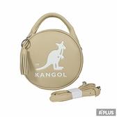 KANGOL 包 英國袋鼠 流蘇 內夾層 隨身包 奶茶色 馬卡龍圓形側背包 - 6055301131