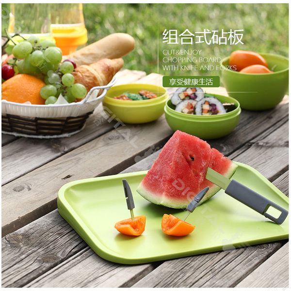 台灣Artiart正品 刀叉組合多功能切菜板 便攜抗菌砧板 輔食小案板