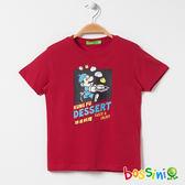 印花短袖T恤13紅色-bossini男童