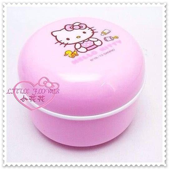 ♥小公主日本精品♥Hello Kitty坐姿點點 嬰兒用品嬰幼兒粉撲盒 爽身粉粉撲盒 55008600