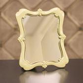 聖誕交換禮物-復古台式化妝鏡子折疊美容公主鏡桌面梳妝鏡