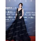 歐尚-高貴性感黑色生日派對晚宴年會主持人婚紗禮服10030
