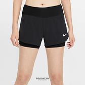 NIKE 短褲 ECLIPSE 2IN1 黑 2合1 雙層 運動 女 (布魯克林) CZ9571-010